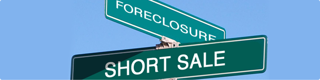 foreclosure short sale street sign